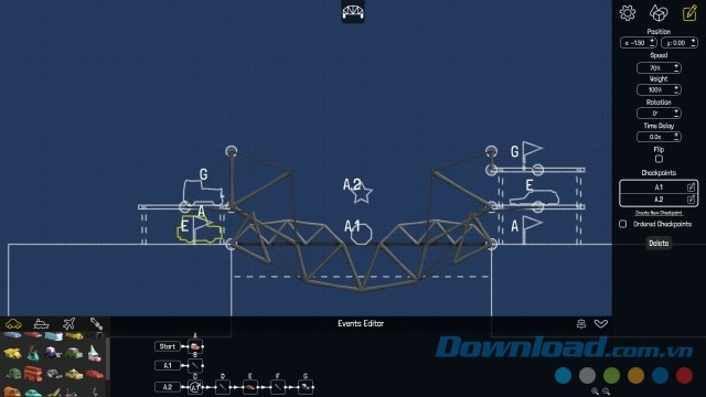 Poly Bridge là trò chơi giải đố sáng tạo và thú vị với gameplay phong phú