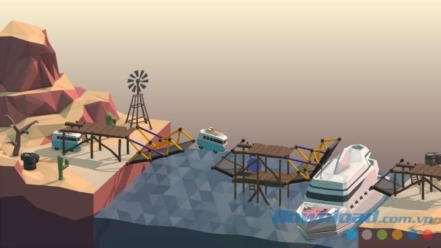 Khám phá hơn 100 bài chơi cực kỳ thú vị của game xây cầu Poly Bridge cho máy tính, Mac và Linux