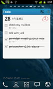 GO Note Widget for Android