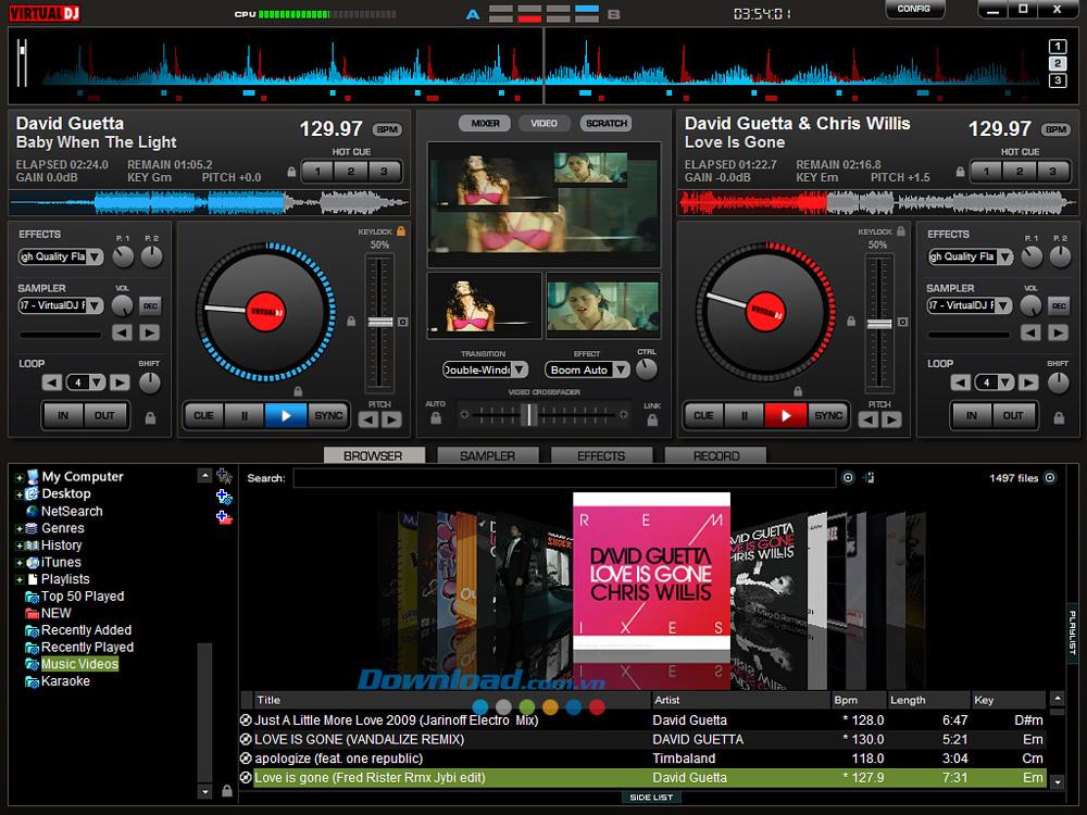 VirtualDJ 2021 – Trộn nhạc, mix nhạc DJ chuyên nghiệp