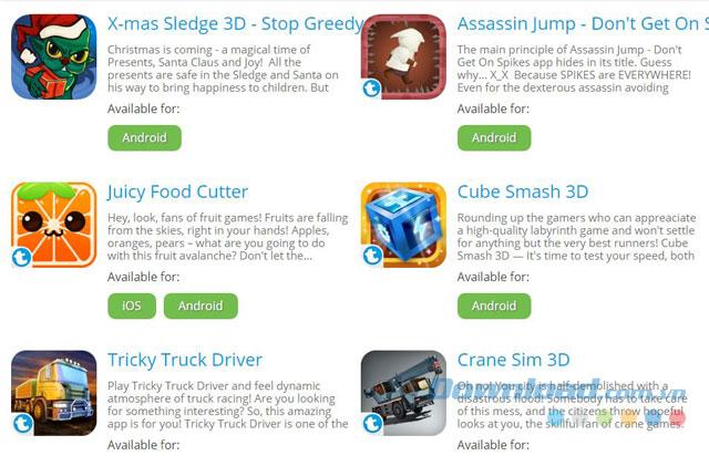 Danh mục game đa dạng của Teen Games