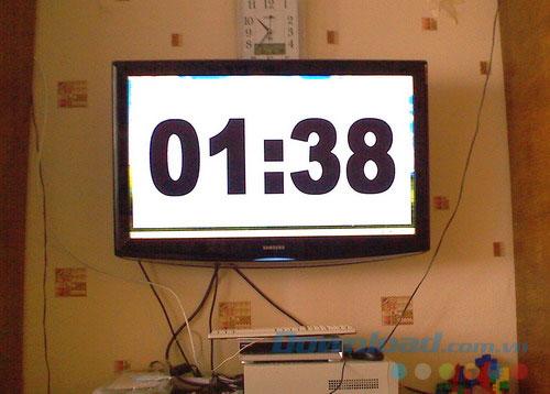 Chèn bộ đếm giờ trong bảng tính Excel