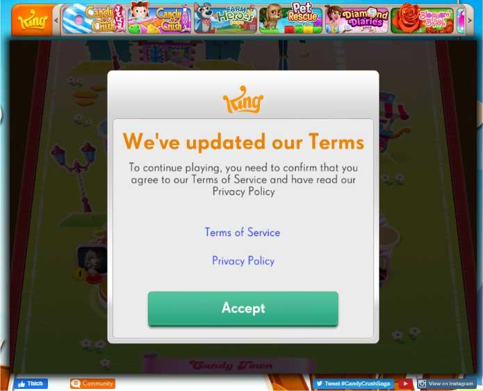 Nhiều màn chơi hấp dẫn đang chờ bạn chinh phục ở Candy Crush Saga Online