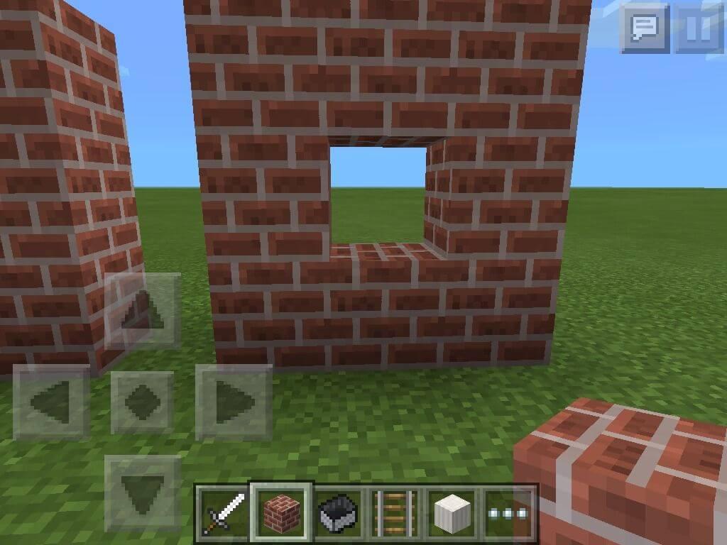 Đục lỗ trên tường trong Minecraft