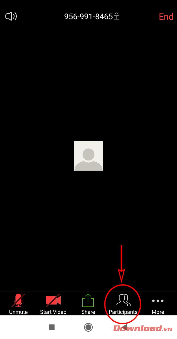 nhấn vào nút Participants