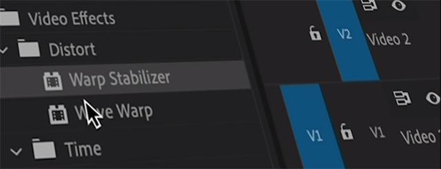 Tính năng Warp Stabilizer giúp ổn định khung hình nhanh hơn gấp 4 lần