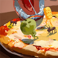 Life On A Pizza