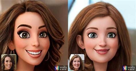 Voilà AI Artist - Biến ảnh selfie thành nhân vật hoạt hình