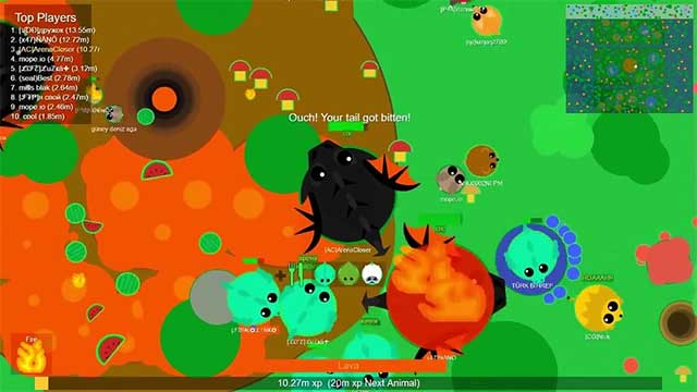 Mope.io is a survival style io game fun with big fish eat small fish