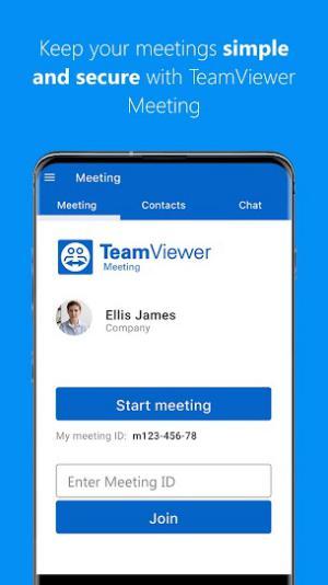 TeamViewer Meeting helps you make quality online meetings