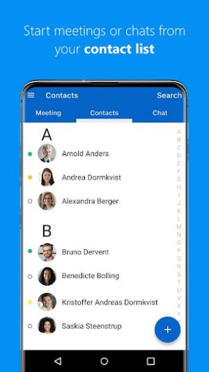 Chat with others anytime, anywhere